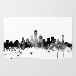 Dallas Texas Skyline Rug