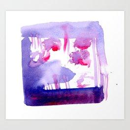 Hidden Magenta Art Print