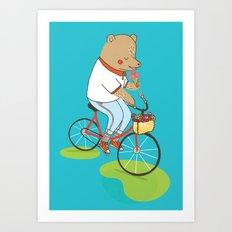 Berlin Summer Ride Art Print