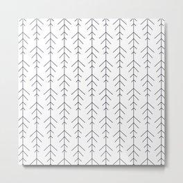 Minimalistic simple line arrows black and white Metal Print