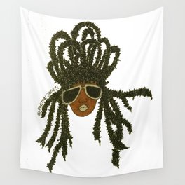 Crown of Locs Wall Tapestry