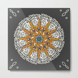 Crotchet Mandala Metal Print