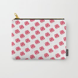 Red Rose White Background Carry-All Pouch