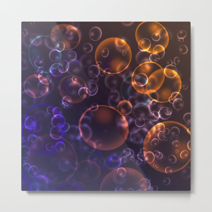 Mirages. Blurred background Lenses, bubbles Metal Print