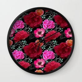 Bouquet of jewels Wall Clock
