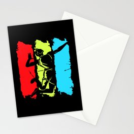 Volleyball Retro Mens Power Spike Ball Set Team Stationery Cards