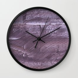 Dark lilac Wall Clock