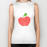 apple Biker Tanks featuring apple by Berreca