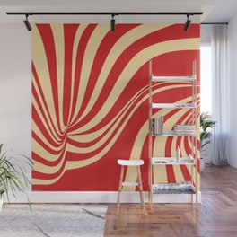 Movement in Red and Cream II Wall Mural