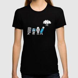 Cloud Computing Data Storage Evolution Progression T-shirt