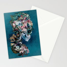 Floral Skull RP Stationery Cards