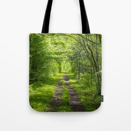 Trail Through Green Woods Tote Bag