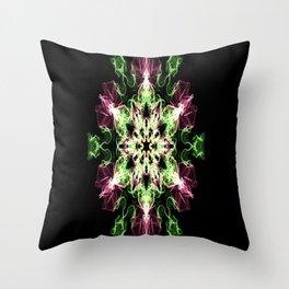 Watermelon Snowflake Throw Pillow