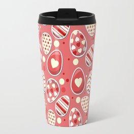 Cute colorful easter egg pattern Travel Mug
