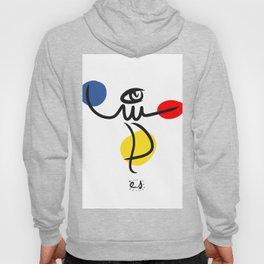 The Juggler of Life Minimal Art Design Hoody