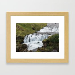 Waterfall in Iceland - landscape photography Framed Art Print