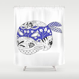 TMNT LEONARDO BLUE Shower Curtain
