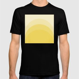 Four Shades of Yellow Curved T-Shirt