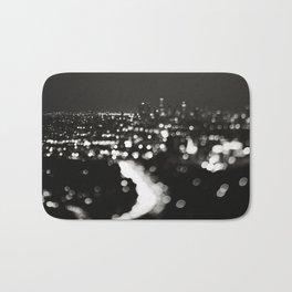 Los Angeles cityscape. L.A. Noir Bath Mat