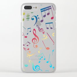 Musical Notes XIII Clear iPhone Case