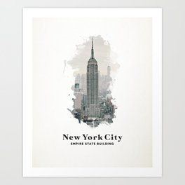 New York City Empire State Building Art Print