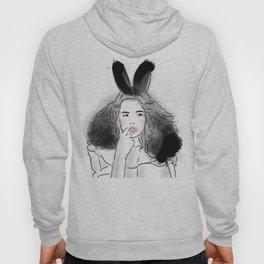Fashionable easter bunny girl Hoody