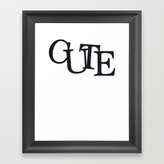 CUTE Framed Art Print