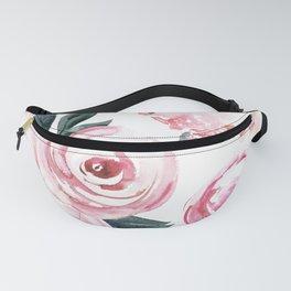 Watercolor Rose Fanny Pack