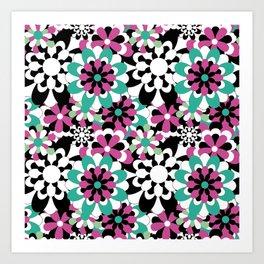 Tutti Fiori (pink) Art Print