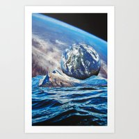 planets Art Prints featuring Planets by John Turck