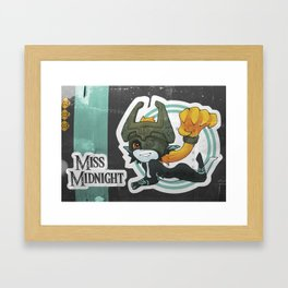 Midna - Miss Midnight Framed Art Print