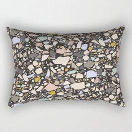 Dark terrazzo pattern Rectangular Pillow