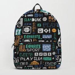 Basketball sketch. Pattern. Backpack