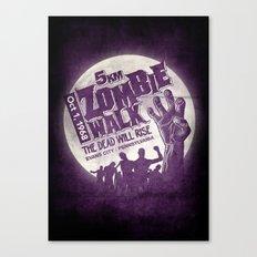 Zombie Walk Canvas Print