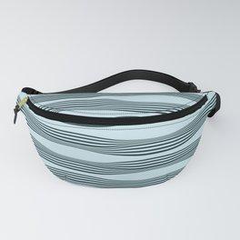 Wavy Stripes in blue mint Fanny Pack