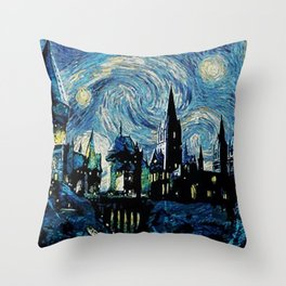 Magic Castle Starry Night Throw Pillow