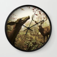 Mr and Mrs Deer Wall Clock