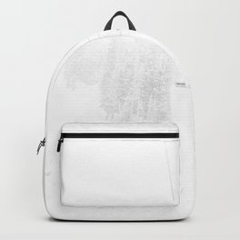 Ski Lift  // Black and White Snowy Climb Whiteout Foggy Minimal Epic Indie Alpine Photograph Backpack