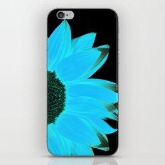 portrait of summer - blue black iPhone & iPod Skin