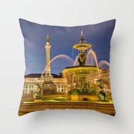 Fountain, Rossio Throw Pillow