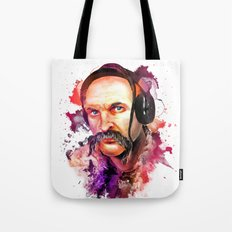 Cossack Ivan Sirko listen music Tote Bag