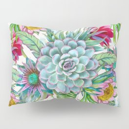 Exotic flower garden Pillow Sham