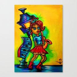 Voodoo doll saxophone player Canvas Print
