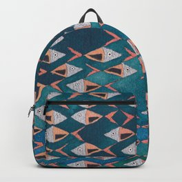 School of Fish Pattern Backpack