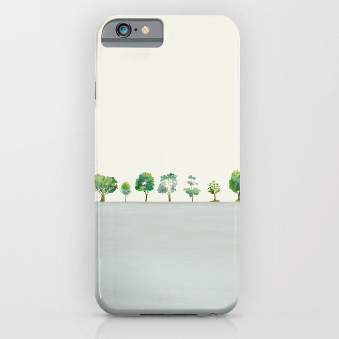 A Row Of Trees iPhone Case