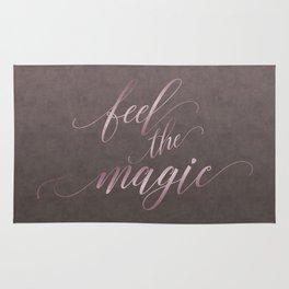 Feel The Magic Glamour Calligraphy Rug