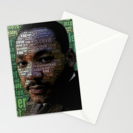 African American Martin Luther King Memorial Portrait Stationery Cards