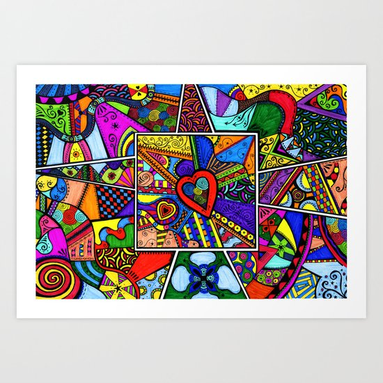 At the heart of the matter Art Print