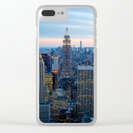 New York City Dusk Clear iPhone Case