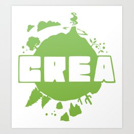 Crea logo Art Print